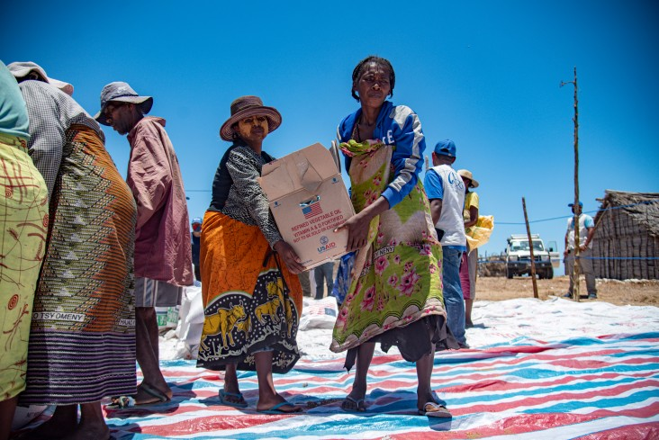 USAID is working with partners in Madagascar to respond to persistent drought conditions by repairing water points and distributing food to vulnerable households.