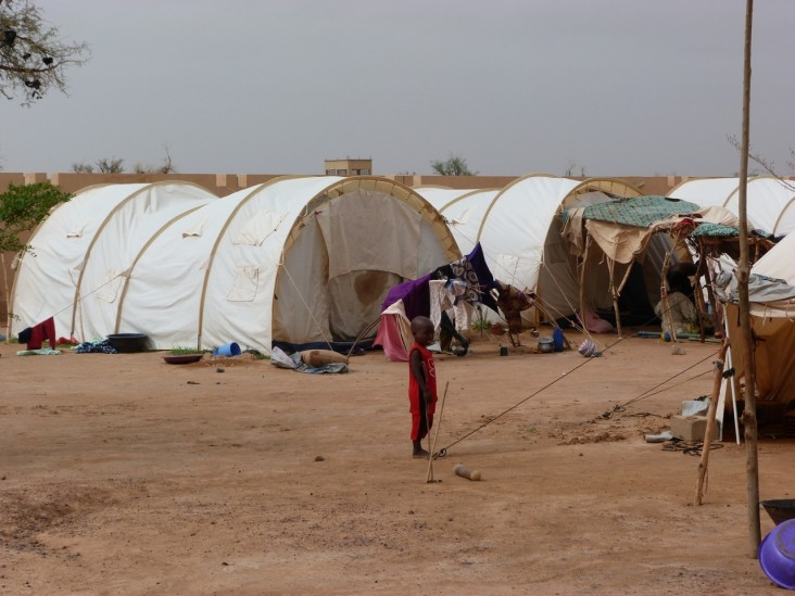 Malian boy in internally displaced person (IDP) site