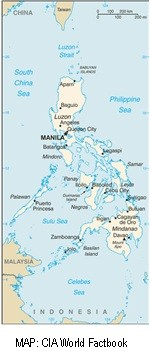 Philippines Map from CIA World Fact Book