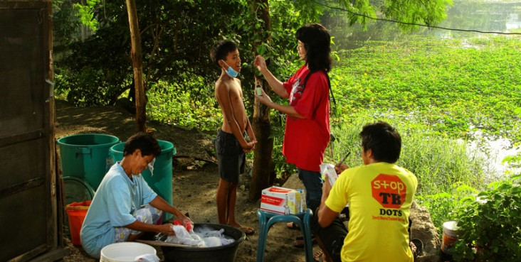 A patient is checked for Tuberculosis
