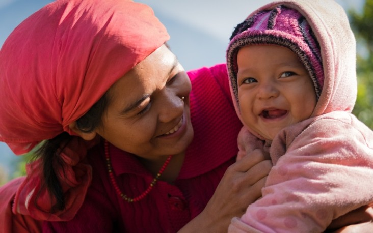 Image of Nepali mother and baby