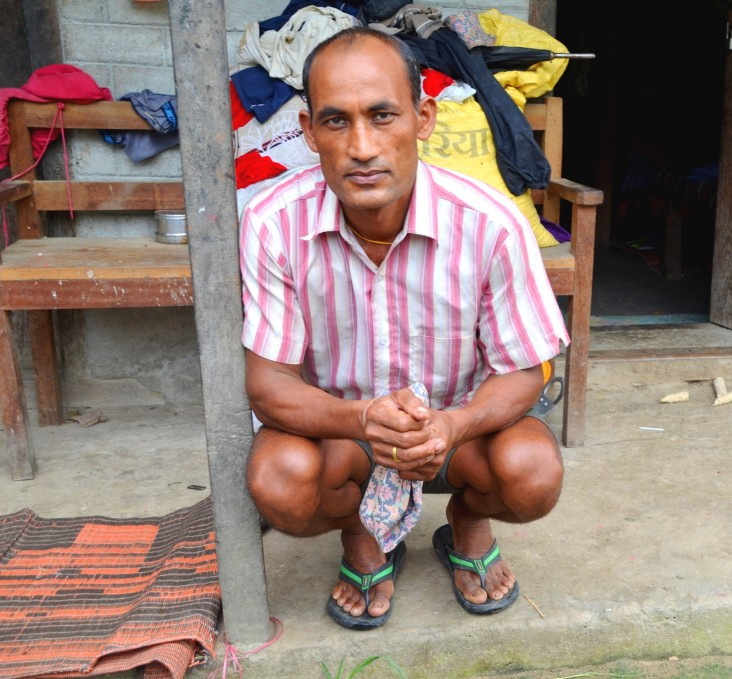 Bhoj Bahaddor Khadka, 40, was a vegetable farmer in Ramechhap district for six years.