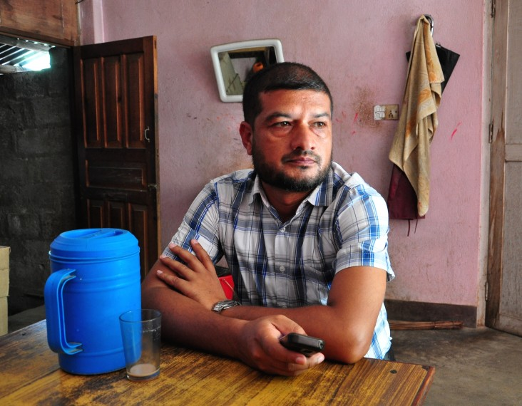 Pandab Prasad Prasai, a USAID-supported psychosocial counselor in the Ramechhap district of Nepal