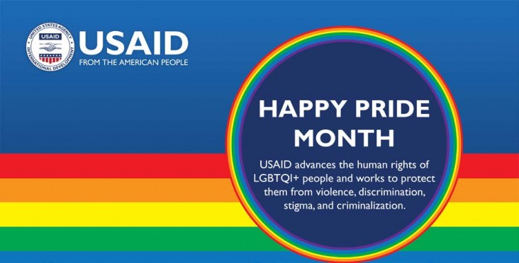 Happy Pride Month: USAID advances the human rights of LGBTQI+ people and works to protect them from violence, discrimination, stigma, and criminalization