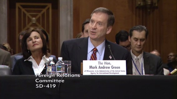 Click to view video of Ambassador Green's testimony.