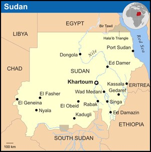 Map of Sudan - UN OCHA