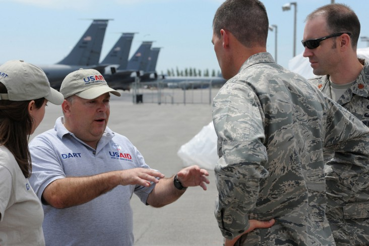 USAID partnered with the U.S. Air Force in June 2010 to deliver 16,600 pounds of relief supplies to people affected by conflict.