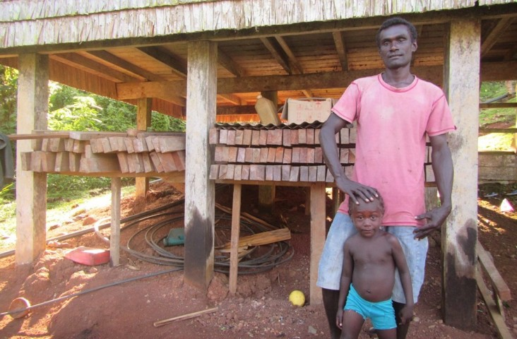 Jacob Manana built a new house for his parents and is now building one for his own family.