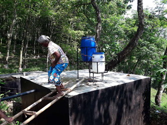 Padmalatha ensures that a community has clea drinking water 2