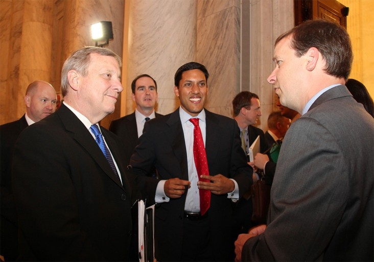 Members of Congress and USAID Administrator Rajiv Shah mingled with a crowd of 300 at the Water Strategy launch on Capitol Hill.