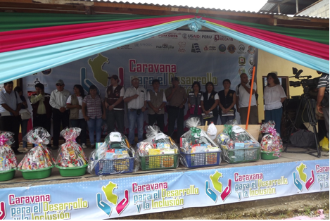 Caravan implementers come together at the start of the two-day event held in Padre Abad province, March 23-24, 2013.