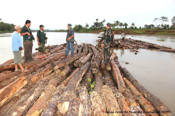 Multi-sectoral forest law enforcement activities in Agusan River in Agusan del Sur.