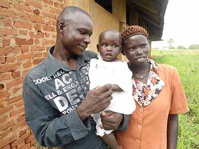 A family in Lira, Uganda that has successfully participated in the REAL project.