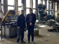Jusuf Pandzic and Amil Domjanovic, certified welders, at STEP factory, after training provided through USAID's WHAM project (Sarajevo, Bosnia and Herzegovina).
