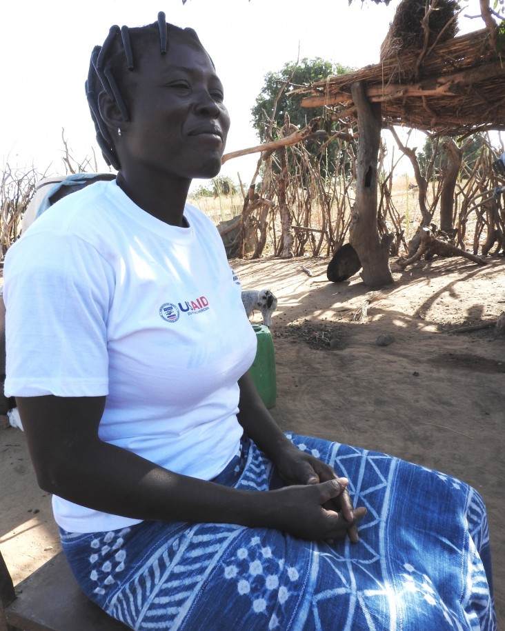 Chantal Yarga, a mother of six in Burkina Faso, uses the techniques she learned from USAID to increase her crop yields and improve the lives of her family members.