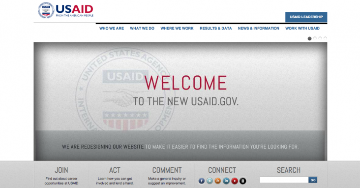 Image of the new usaid.gov