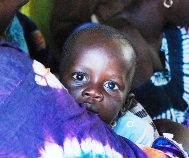 This baby and her mother benefited from Fatou Diouf's care and the anti-hemorrhage drug misoprostol.