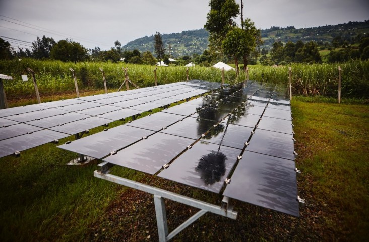 A solar array powering a mini-grid serving more than 300 households in Kisii County, Kenya.
