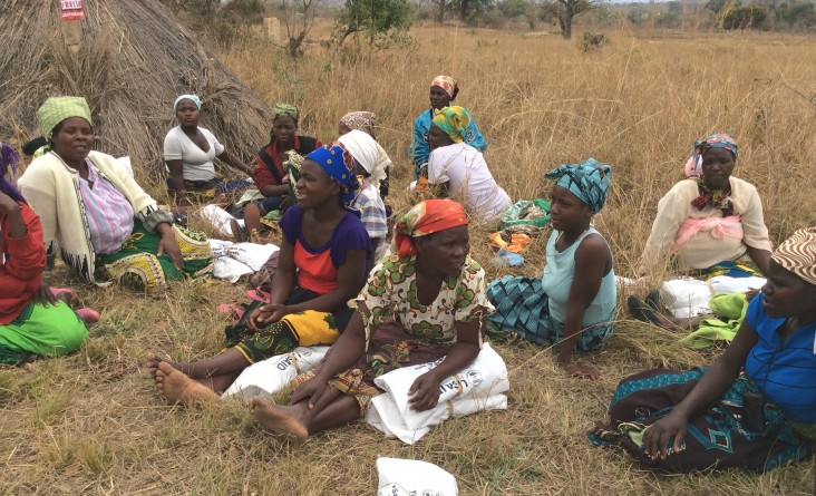 Women farmers in northern Ghana were aong the many soybean success kit recipients.