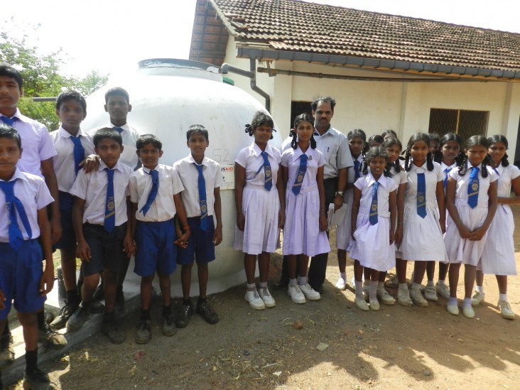 Thanks to USAID and LRWHF, this rural school has good quality water.