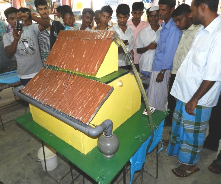 Rainwater harvesting model at a public awareness event