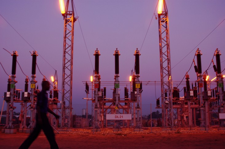 A substation in Mozambique