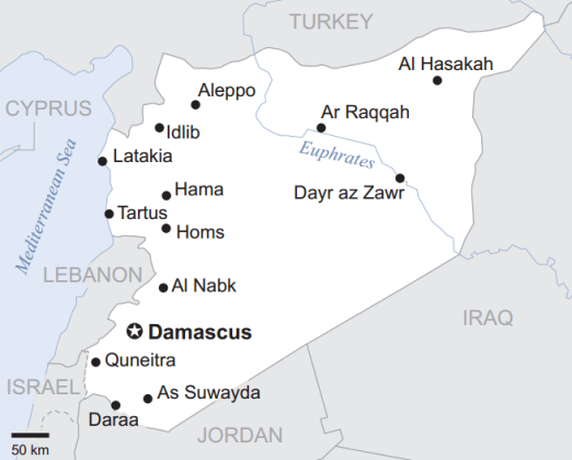 Basic Map of Syria