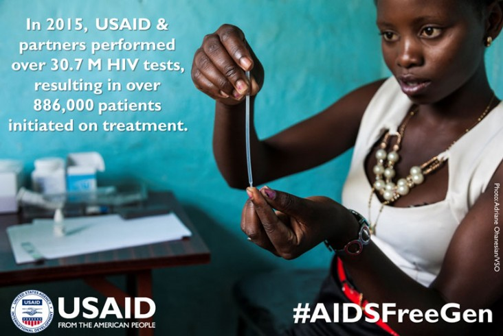 Sexual and Reproductive Health Field Trainee Prudence Chimanda, age 22, practices the procedure for testing for HIV