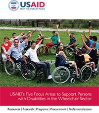 Cover for USAID's Five Focus Areas to Support Persons with Disabilities in the Wheelchair Sector