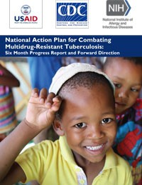 Cover of the National Action Plan for Combating Multidrug-Resistant Tuberculosis showing a young boy.