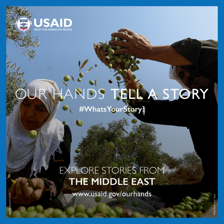 Our Hands Tell A Story:  Explore stories and videos from the Middle East. Credit: Alaa Badarneh / USAID