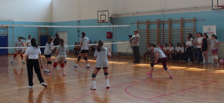 USAID supports social inclusion for marginalized young women and girls with assistance to Student UNTZ, the University of Tuzla's Women's Volleyball Club