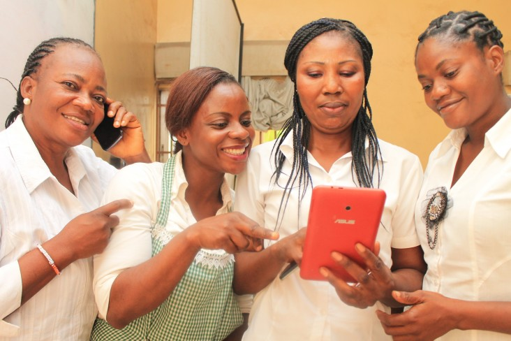 Catering students receiving Women and the Web Alliance training in Lagos State in Nigeria