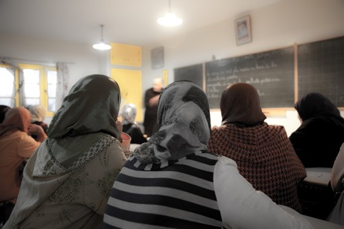 Image of Moroccan women participating in training program