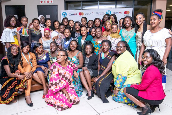 Participants in the Young Women in African Power Leadership Training