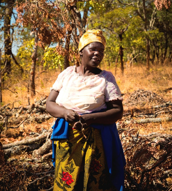 Endwina Kalunga was one of the first women involved in the BioCarbon Partners Trust's project.