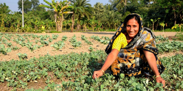 USAID empowers women smallholder farmers by providing opportunities for them to raise crops and generate income.