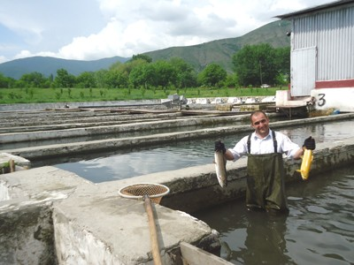 Anar Mikayilov, son of the owner and executive manager of Girkhbulag Trout Farm.