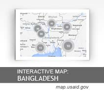 Interactive Map: Bangladesh map.usaid.gov