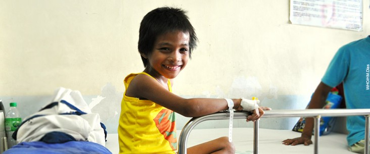 Photo of Jerome who is being treated for MDR-TB n the Philippines