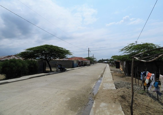 This Caracol neighborhood, now receiving 24 hour a day energy, previously had no access to electricity