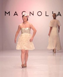 Karen Cano, a young woman with Down syndrome in Paraguay, is a model in a fashion show