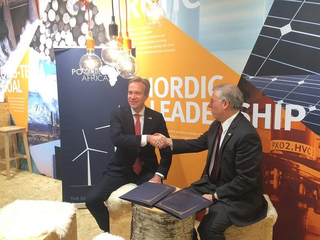 USAID Associate Administrator Eric Postel and Norwegian Minister of Foreign Affairs Børge Brende formally signed a Memorandum of
