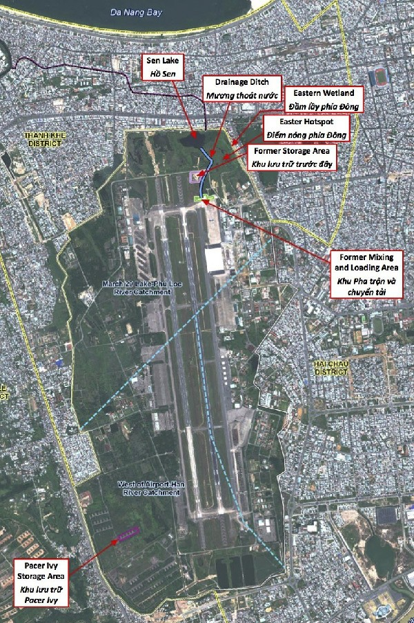 Dioxin remediation areas in Danang Airport