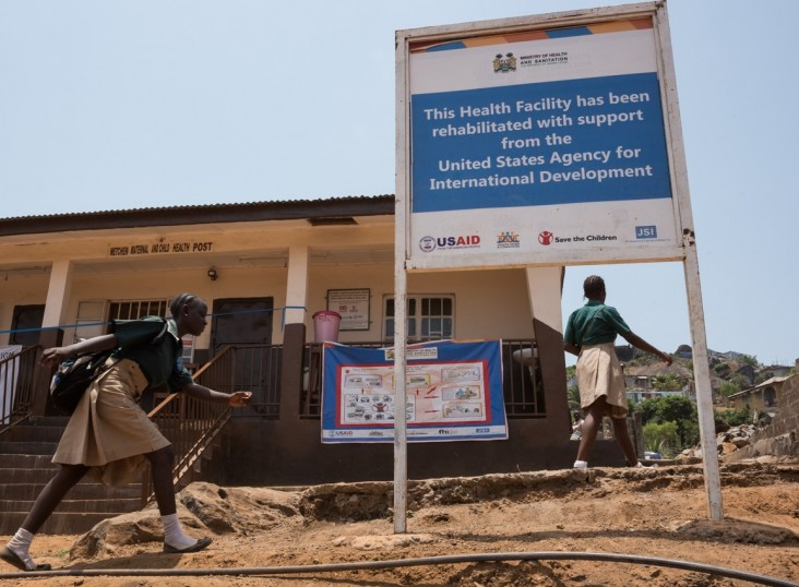USAID has rehabilitated more than 100 peripheral health units across Sierra Leone to increase access to a range of essential water, sanitation and hygiene components.