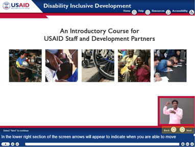 Disability e-learning graphic of course intro