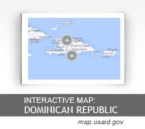 Interactive Map:  Dominican Republic map.usaid.gov