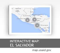 Interactive Map:  El Salvador map.usaid.gov