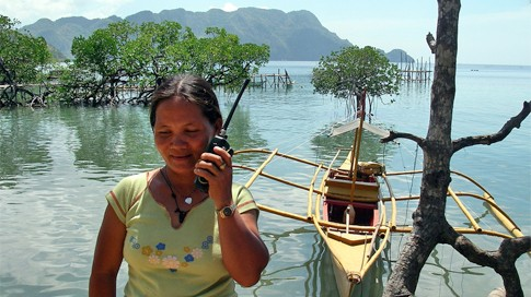 Fish Warden on Duty in Coron, Philippines