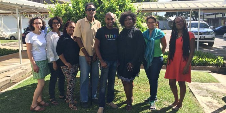 Photo of the LINKAGES team in Trinidad, including the study investigators, data collectors, and site coordinators.